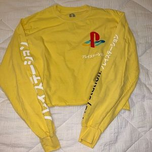 F21 PlayStation cropped long sleeve